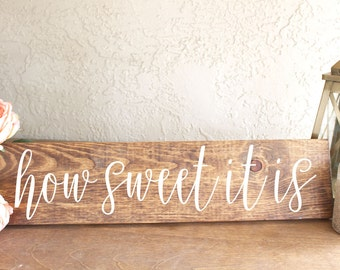 How Sweet It Is Sign - Wedding Dessert Sign - Wedding Dessert Table Sign - Wedding Candy Bar Sign - Rustic Wood Wedding Sign - Wooden Decor