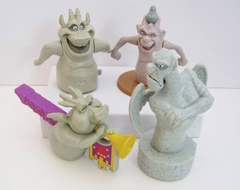 Hunchback Of Notre Dame-Gargoyle Windup Toy-Figural Whistle-Disney Movie Characters-Cake Topper-Childs Burger King Action Figure-Hugo-Victor