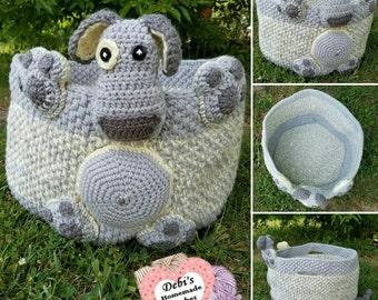 Doggie Storage Basket, Made-to-Order Crochet