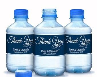 Bottled Water Labels - 30 Wedding Water Bottle Labels - Wedding Bottled Water Labels - Thank You Water Bottle Wraps - Bottle Stickers