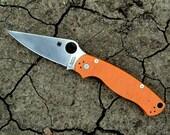 Halloween Tactical Survival Knife-Custom Burnt Orange G10 Handles Satin Blade Knife-Pocket Knife Folding Knife Brand New,Ready to Ship