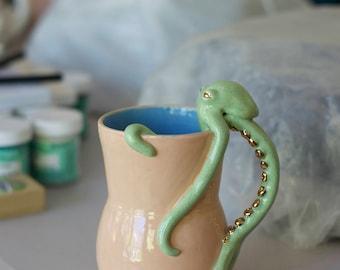 READY TO SHIP Sea Life Collection: Octopus Mug