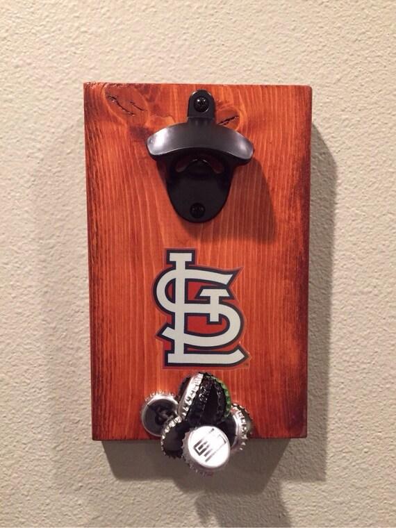 magnetic bottle opener fridge mount made with mlb licensed. Black Bedroom Furniture Sets. Home Design Ideas