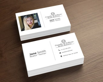 Real Estate Business Cards - Realtor Business Card - Digital File Only - Printable Business Card - Full Customization