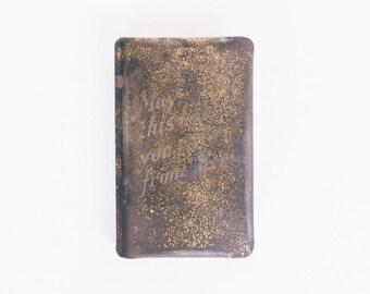 "WW2 ""Bullet Proof Bible"" Know Your Bible Co Cincinnati Ohio King James New Testament Words of Christ in Black"