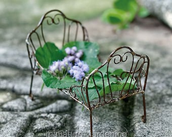 Day Bed for Miniature Garden, Fairy Garden