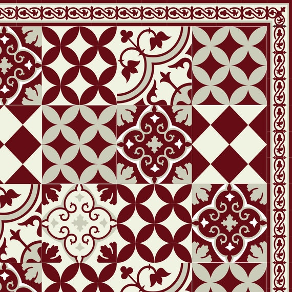 Livraison gratuite Tiles Motif tapis de vinyle linoléum PVC