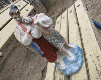 Ceramic figurine, Antique Figurines, Vintage statue, porcelain figurine, porcelain figurine, vintage collectible, USSR porcelain,