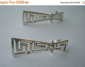 For Sale Ancient Greece Meander Sterling Silver 925 Earrings - Maiander Greek - Maiandros