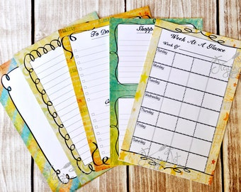Monthly Planner Tablet - To Do List Notepad - Week At A Glance Organizer - Shopping List - Calendar Journal  - 8x5