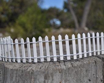 White Picket Fence+Fairy Garden Supply+Fairy Garden Accessory