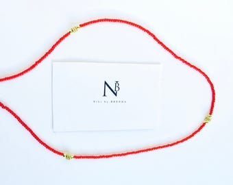 Ruby Red and Gold Waistbeads