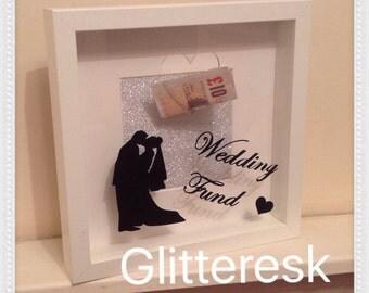 Wedding fund savings deep block frame.