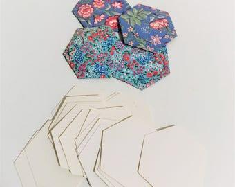 50 English Paper Piecing Hexagons // 50 EPP Hexies // Cardboard Hexagon Pieces // Hexagon Quilt Making // Quilting Supplies // 3cm Hexies