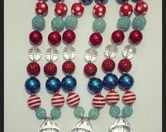 4th of july chunky necklace