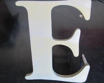 """Vintage 10"""" Cast Metal Letter E in Garamond font"""