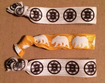Boston Bruins Elastic Hair Ties