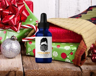 christmas gifts for men - citrus grove beard oil by yukons beard - gifts for men - gift ideas for men - stocking stuffers - beard oil