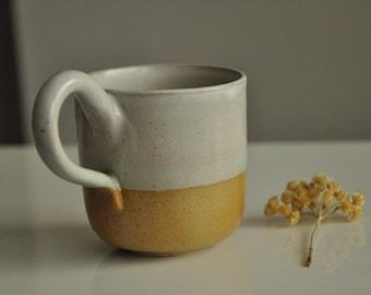 New White andm Cream Tea/Coffee Mug