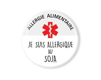 """Pinback Button.Accessories for kids.Button Pin.1.5"""" inch.Epipen.Allergy for kids.Medical Allergy.Severe food allergy tag.Soy allergy"""