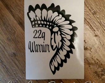 22Q Decal DiGeorge Syndrome Decal 22Q Warrior
