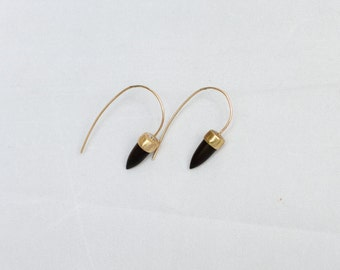 ATTALUS ebony earrings : modern bronze earrings