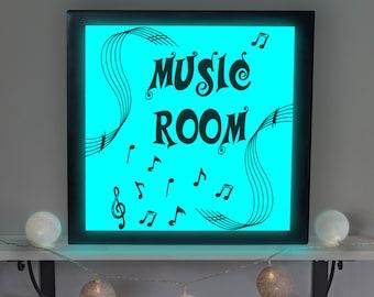 Music Room Sign, Music Room Decor, Music Room Sign, Music Room Light Up Picture, Music Room Lamp, Accent Lamp, LED Sign