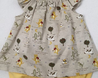 Hey Diddle Diddle top and bloomer set