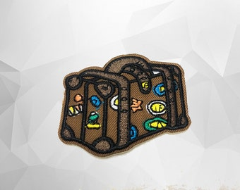 Luggage Iron on Patch(M) - Bag Applique Embroidered Iron on Patch - Size 5.5x4.9 cm