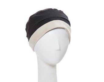 Reversible chemo hat for cancer patients. 100% cotton, a basic chemo cap for every day.