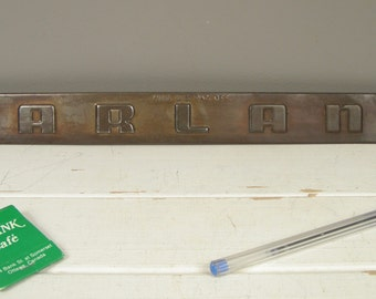 Vintage Garland Stove Company Trademark Industrial Kitchen Stove Nameplate