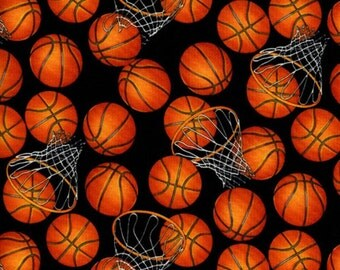 Basketball Fabrics / Basketball Yardage / Hoops by The yard / Timeless Treasures c5814 - B-Ball / Fat Quarters and Yardage