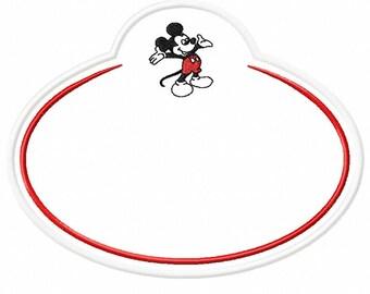 Disney Nametag - Embroidery Machine Applique - Instant Download - Monkey Doodle Digitizing
