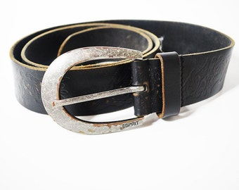 Vintage Esprit Leather Belt Brown
