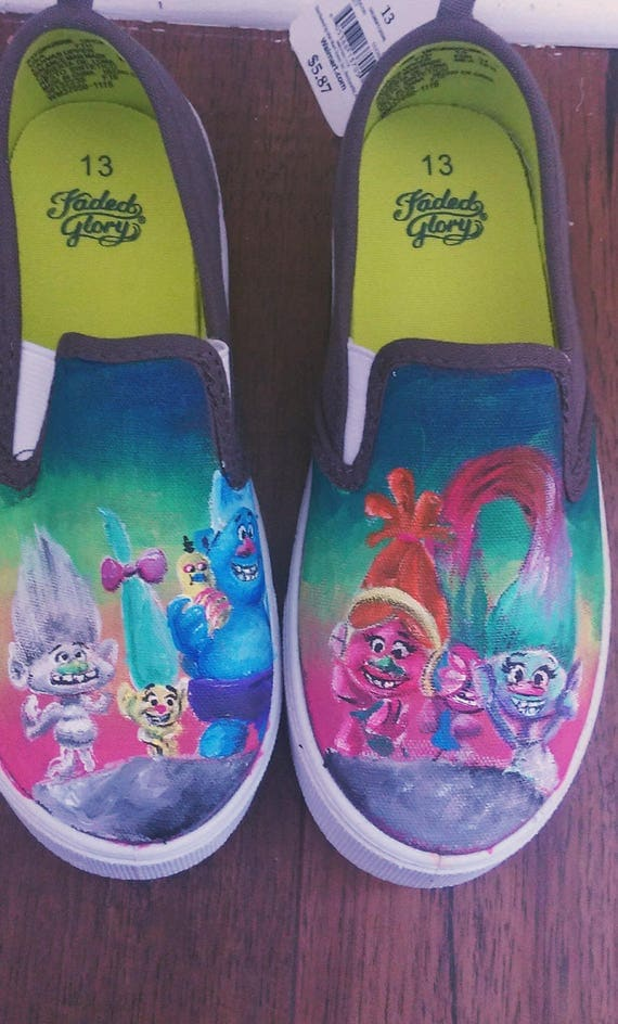 Dreamworks Trolls Kids Canvas Slip Shoes