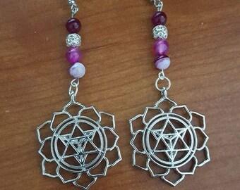 Merkaba earring
