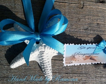 10 scented Chalks marine forms mixed, seashell, starfish, place cards, wedding favors