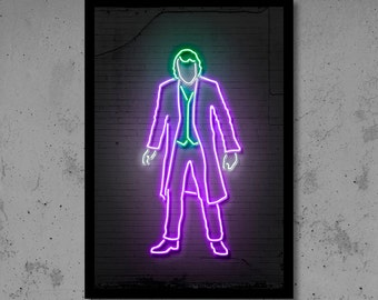 Neon Wall Art parking wall art banksy art banksy print neon art gift for him