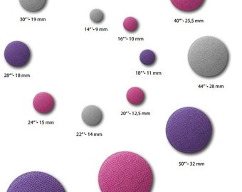 We manufacture your fabric button: fabric covered buttons Astor bomb button making cover button ponytail Stoffbuzen