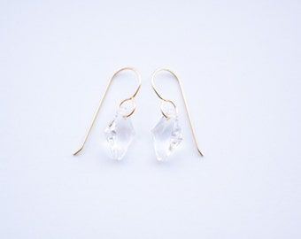 BECCA EARRING * clear crystal simple drop earring