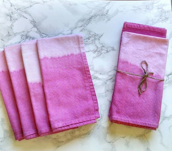 pink ombre napkin