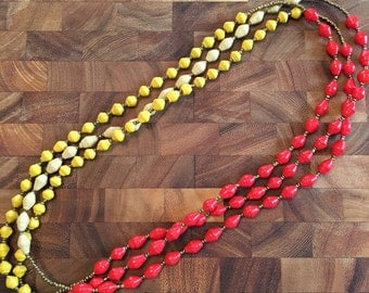 Rwandan Paper Bead Necklace   Tricolored Necklace   African Necklace   Fair Trade Jewelry   Fair Trade Necklace   Rwandan Jewelry
