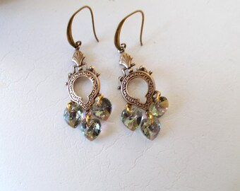 Swarovski - Stunning Black Diamond Queen Drop Earrings