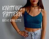 Knitting Pattern | Basic Bralette | Knit Crop Top | Knit Top Pattern