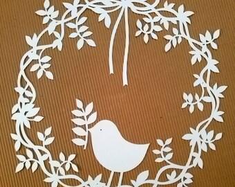 Ghirlanda con uccellino