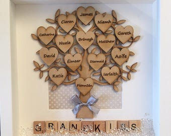 Grandkids family tree with over 10 names