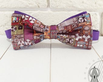 DJ Bow Tie, Musical bowtie, Bowtie music, Musical equipment, Gift for musician