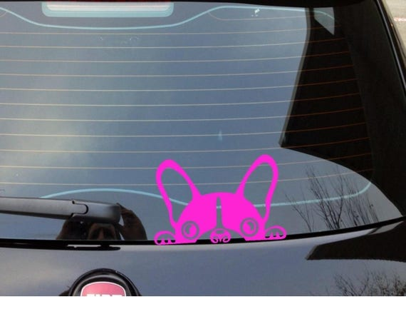 Peeking Boston Terrier Car Decal Cute Car Decal Boston - Custom vinyl decals boston