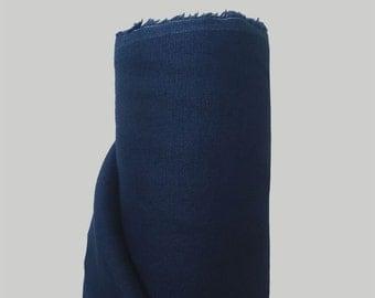 Linen Fabric Navy 100% Linen