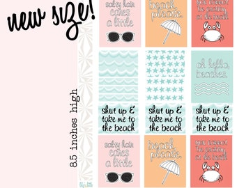 Take Me to the Beach! Planner Stickers | Beach Day Planning Stickers | Vacation Planner Stickers | Travel Planner Stickers (#016)